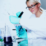 Scientist in chemical lab Royalty Free Stock Photo
