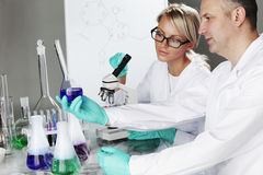 Scientist in chemical lab Royalty Free Stock Image
