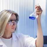 Scientist in chemical laboratory Stock Photos
