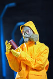 Scientist in a chemical plant Stock Image