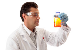 Scientist with chemicals Stock Photos