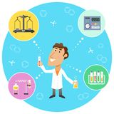 Scientist chemist in lab Royalty Free Stock Photo