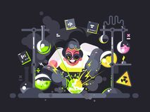 Free Scientist Chemist Making Chemical Experiment Stock Images - 110292544