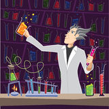 Scientist with Chemistry Equipment Stock Images