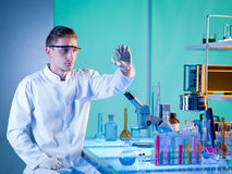 Scientist in chemistry laboratory Royalty Free Stock Photography