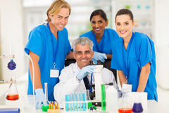Scientist Chemistry Students Royalty Free Stock Images