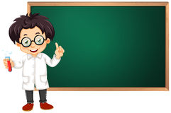 Scientist in classroom Royalty Free Stock Image