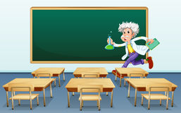 Scientist in classroom Royalty Free Stock Photo