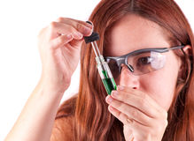 Scientist Conducting a Test Stock Photo