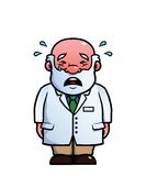 Scientist crying Stock Photography