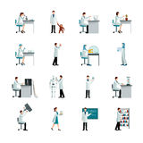 Scientist Decorative Icons Set Stock Images