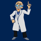 Scientist disgruntled illustration Stock Photography