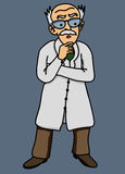 Scientist disgruntled illustration Stock Photo