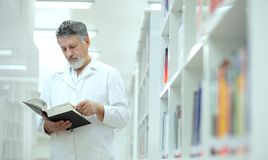 scientist/doctor in a library Stock Photography