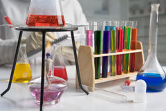 Scientist doing experiment Stock Photography