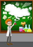 Scientist doing experiment in the lab Royalty Free Stock Photo