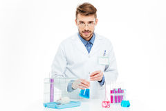 Scientist doing experiments with rat. In a laboratory Royalty Free Stock Photography