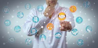 Scientist Enters Pharmacogenomic Partnering Deal royalty free stock photography