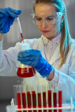 Scientist with equipment royalty free stock image