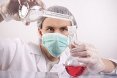 Scientist Experimenting Stock Photo