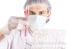 Scientist Experimenting Royalty Free Stock Photography