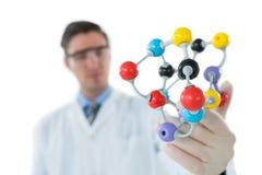 Scientist experimenting molecule structure Stock Image