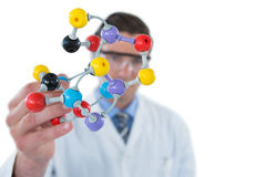 Scientist experimenting molecule structure Stock Photography