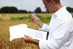 Scientist in the field Stock Photo
