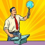 The scientist forges on the anvil of knowledge about planet eart Royalty Free Stock Images