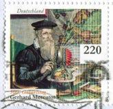 Scientist Gerardus Mercator. GERMANY - CIRCA 2012: stamp printed by Germany, shows scientist Gerardus Mercator, circa 2012 Stock Images