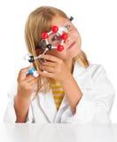 Scientist girl Stock Photo