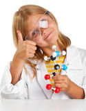 Scientist girl Stock Image