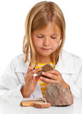 Scientist girl Royalty Free Stock Images