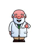 Scientist giving thumbs up royalty free illustration