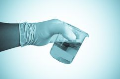 Scientist hand holding test tubes Royalty Free Stock Photography