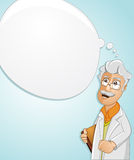 Scientist has an idea. Vector illustration of a Scientist is thinking to find the idea Royalty Free Stock Image