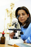 Scientist at her lab Royalty Free Stock Photography