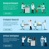 Scientist Horizontal Banners Stock Image