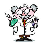 Scientist Illustration; Mad Scientist Royalty Free Stock Photo