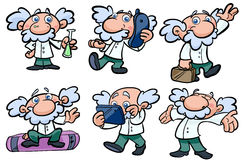 Scientist illustrations Stock Images