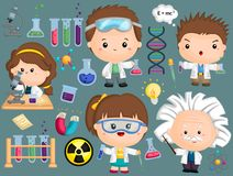 Scientist Image Set Royalty Free Stock Photos