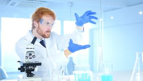 Scientist  imaginating New idea in Laboratory, Research Work. 4k , high quality Royalty Free Stock Image