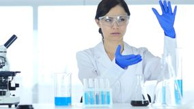 Scientist  imaginating New idea in Laboratory, Research Work. 4k , high quality Royalty Free Stock Photo