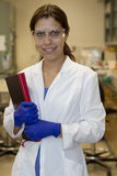 Scientist in the lab Stock Photo