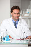 Scientist in a lab Stock Image