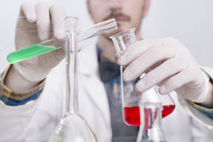 Scientist in a lab Stock Photography