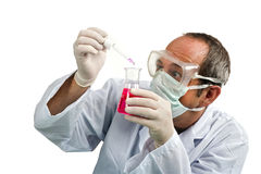 Scientist in laboratory Royalty Free Stock Image