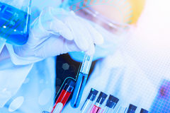 Scientist with laboratory background and concept. Stock Photography