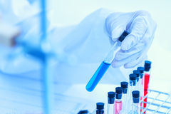 Scientist with laboratory background and concept. Royalty Free Stock Image