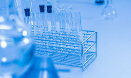 Scientist with laboratory background and concept. Royalty Free Stock Photos